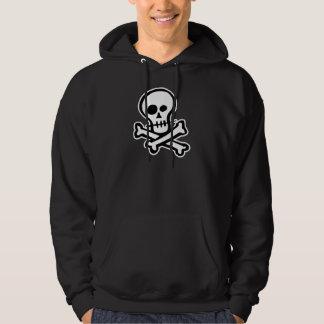 Simple B&W Skull & Crossbones Hoodie