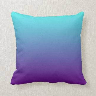 Simple Background Gradient Turquoise Blue Purple Cushion