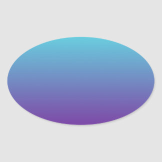 Simple Background Gradient Turquoise Blue Purple Oval Sticker