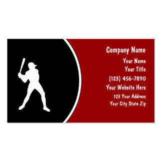 Simple Baseball Business Cards