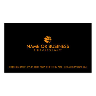 simple basketball business card templates