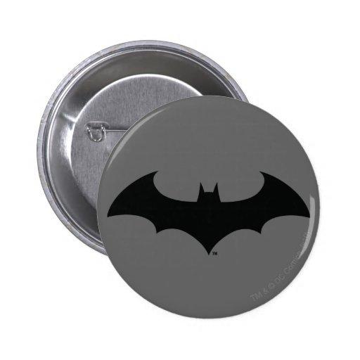 Simple Bat Silhouette Pinback Button
