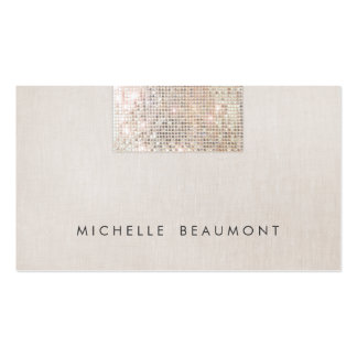 Simple Beauty and Fashion Chic Faux Sequin Beige Pack Of Standard Business Cards