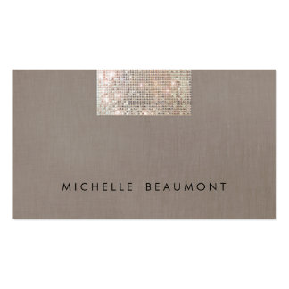 Simple Beauty and Fashion Chic Faux Sequin Taupe Pack Of Standard Business Cards