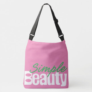 Simple Beauty Cross-Body Tote Bag