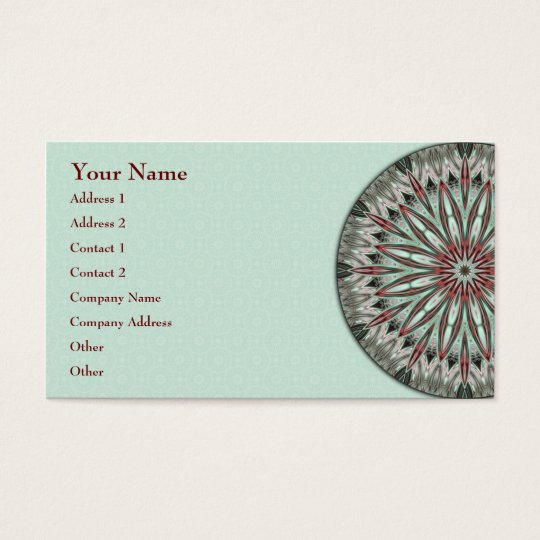Simple Beauty Mandala - Business Card