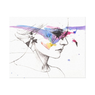 Simple Beauty Woman in Profile Canvas Print
