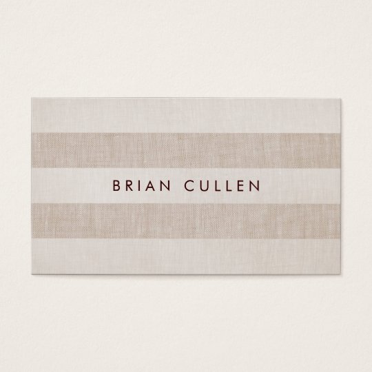 Simple Beige Stripes Earthy, Natural and Neutral Business