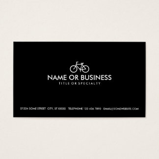 simple bicycle business card