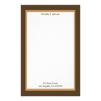 simple biege and brown stationery
