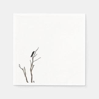 Simple Bird on a Branch | Napkin Disposable Serviette