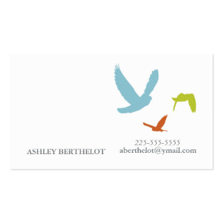 Simple Birds Pack Of Standard Business Cards