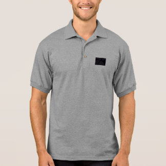 Simple Black Abstract Art Polo T-shirts