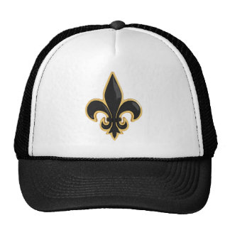 Simple Black and Gold Fleur de Lis Cap