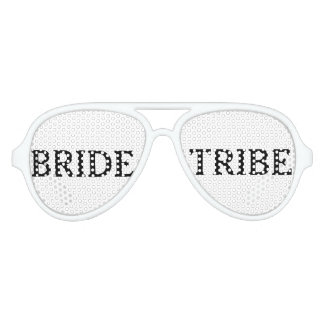 Simple Black and White Bride Tribe Sunglasses