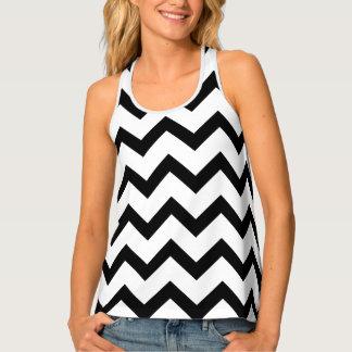 Simple Black and white Chevron pattern Tank Top