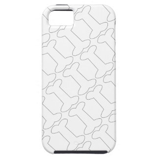 Simple Black and White Doggy Bones Pattern iPhone 5 Case