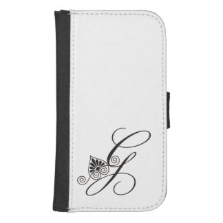 Simple Black and white Monogrammed