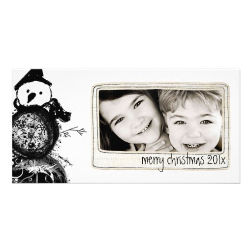 simple black and white photo card