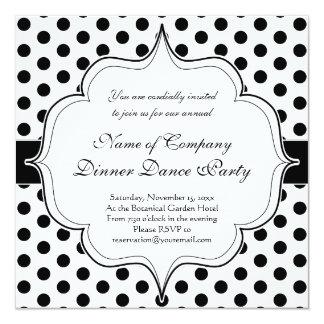 Simple Black and White Polka Dot Basic Pattern Card