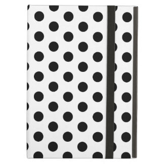 Simple Black and White Polka Dot Basic Pattern iPad Air Case