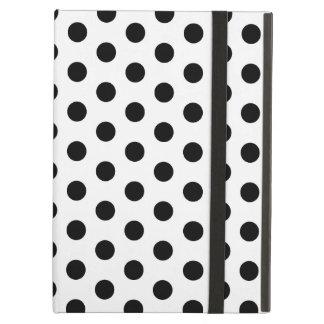 Simple Black and White Polka Dot Basic Pattern iPad Air Case