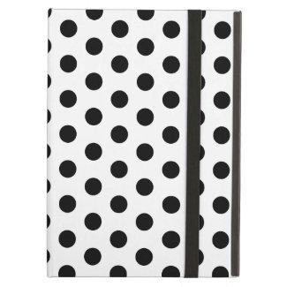 Simple Black and White Polka Dot Basic Pattern