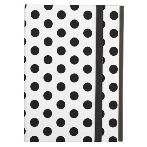 Simple Black and White Polka Dot Basic Pattern iPad Cover