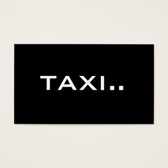 Simple Black Business Card White Text - TAXI