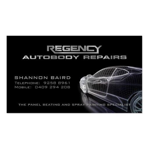 Simple Black Car Model Business Card