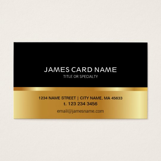 Simple Black Golden business card