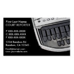 Simple black grey court reporter business cards