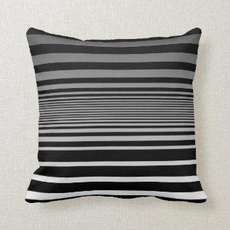 Simple Black Grey White Gradient Stripes Cushion