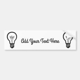 Simple Black Light Bulb for Many Creative Ideas Bumper Sticker