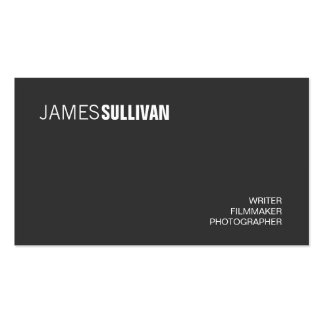 Simple Black Modern Creative Professional Pack Of Standard Business Cards