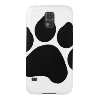 SImple Black Paw Print ANIMAL LOVER Galaxy S5 Cover