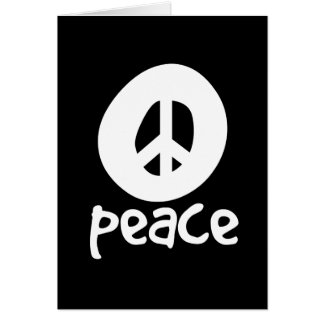 Simple Black Peace Sign Greeting Card