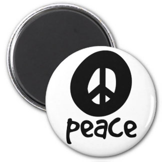 Simple Black Peace Sign Magnets