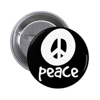 Simple Black Peace Sign Pin