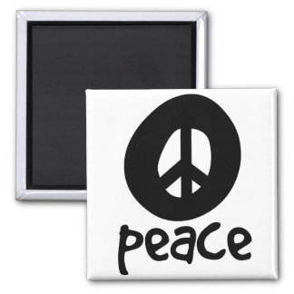 Simple Black Peace Sign Refrigerator Magnets