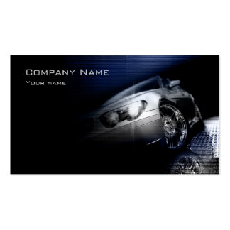 Simple Black Perspective Car Front Lamp Card Business Card Template