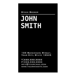Simple Black Stock Broker Business Card