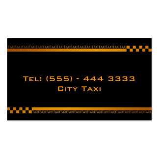 Simple Black Taxi Service Business Card