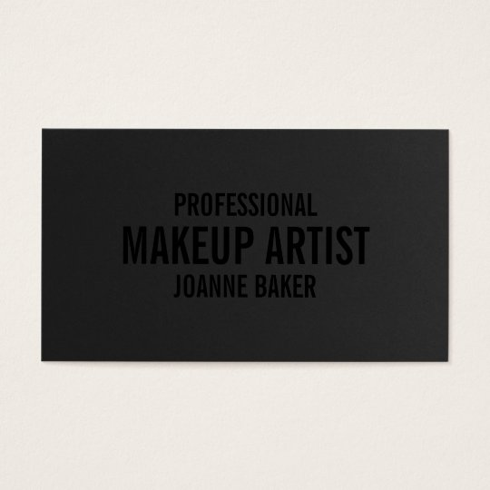 Simple black texture elegant makeup artist modern business
