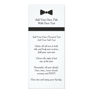 Simple Black Tie Bow Tie Invitation
