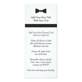 Simple Black Tie Bow Tie Modern Wedding Invitation