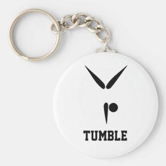 Simple Black Tumbler Gymnast Gymnastics Symbol Key Ring