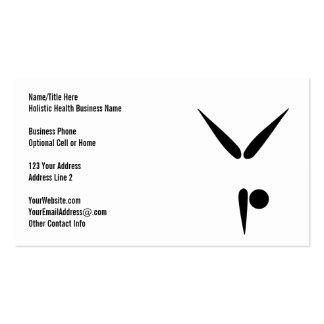 Simple Black Tumbler Gymnast Gymnastics Symbol Pack Of Standard Business Cards
