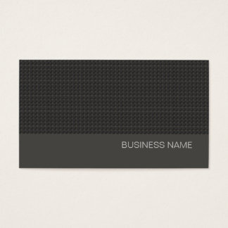 Simple Black Urban Modern Charcoal Gray Business Card