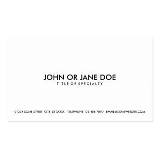 simple black & white business card templates